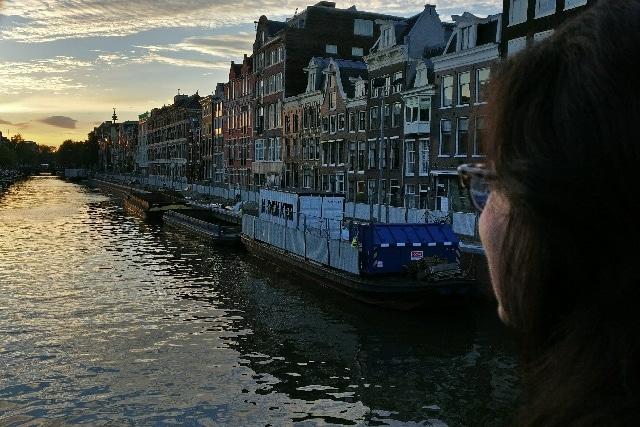 Elyzabeth Gorman Overlooking the Prinsengracht